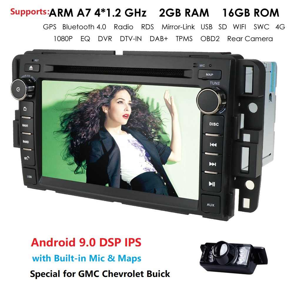 4 Gwifi Android9.0 2 Gram + 16 Grom Quad Core Car DVD Multimedia Player Radio untuk Chevrolet Avalanche Equinox Hhr GMC yukon Sierra Cam