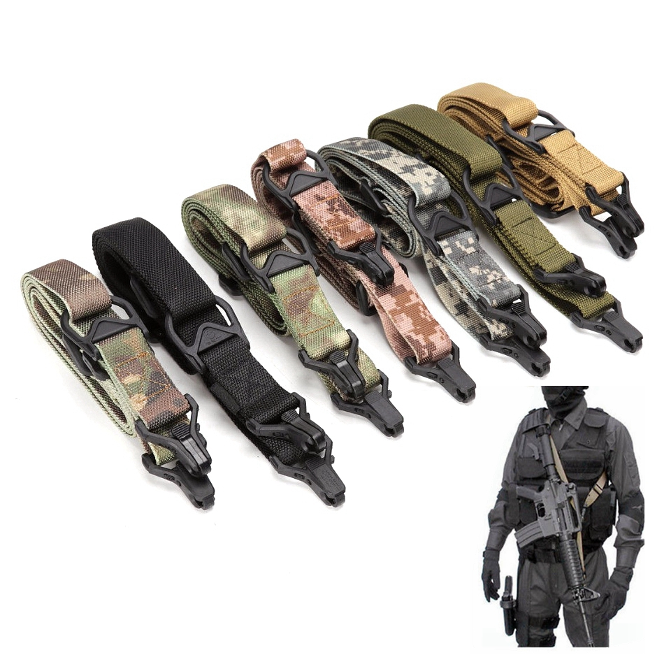 MS3 Gun Sling Tactical Rifle Carry Multi Mission Rope Adjustable Length Army Military Shoulder Strap Tactical 2 Point Slings|Hunting Gun Accessories|   - AliExpress