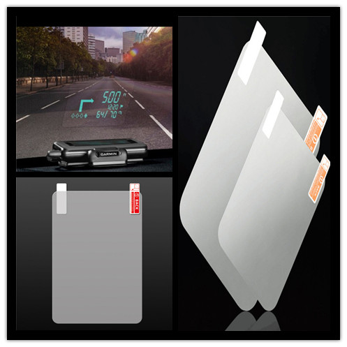 Hot sale 3size PET Display HUD Reflective Film Head Up Display System Film protective film Car OBD II Fuel Consumption Overspeed
