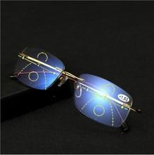 Ti-CARING New  Anti-Blue-ray Smart Progressive Reading Glasses Presbyopic Eyewear Multifocal Eyeglasses Bifocal reading glasses