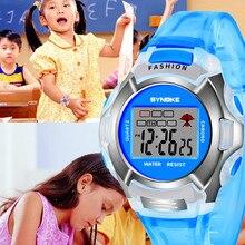 SYNOKE NEW Children Boys Student Waterproof Sports Watch LED