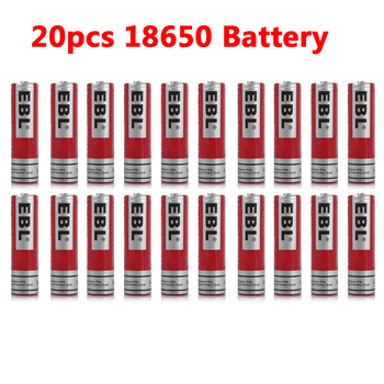 20pcs EBL 18650 Battery 3.7V Rechargeable Battery 3000mAh Lithium Batteries for LED Flashlight Headlamp Batteria 18650 gzsm 18650 battery for sanyo ur18650a rechargeable battery 2250mah 3 7v 6a for powerbank battery