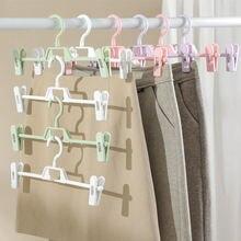 Регулируемая пластиковая вешалка для брюк и юбки с зажимом 10