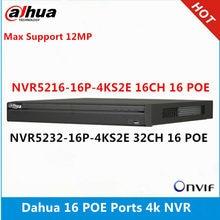 Dahua NVR5216-16P-4KS2E 16ch com 16 poe & NVR5232-16p-4KS2E 32ch com 16 portas poe suporte máximo 12mp resolução 4k leitor nvr