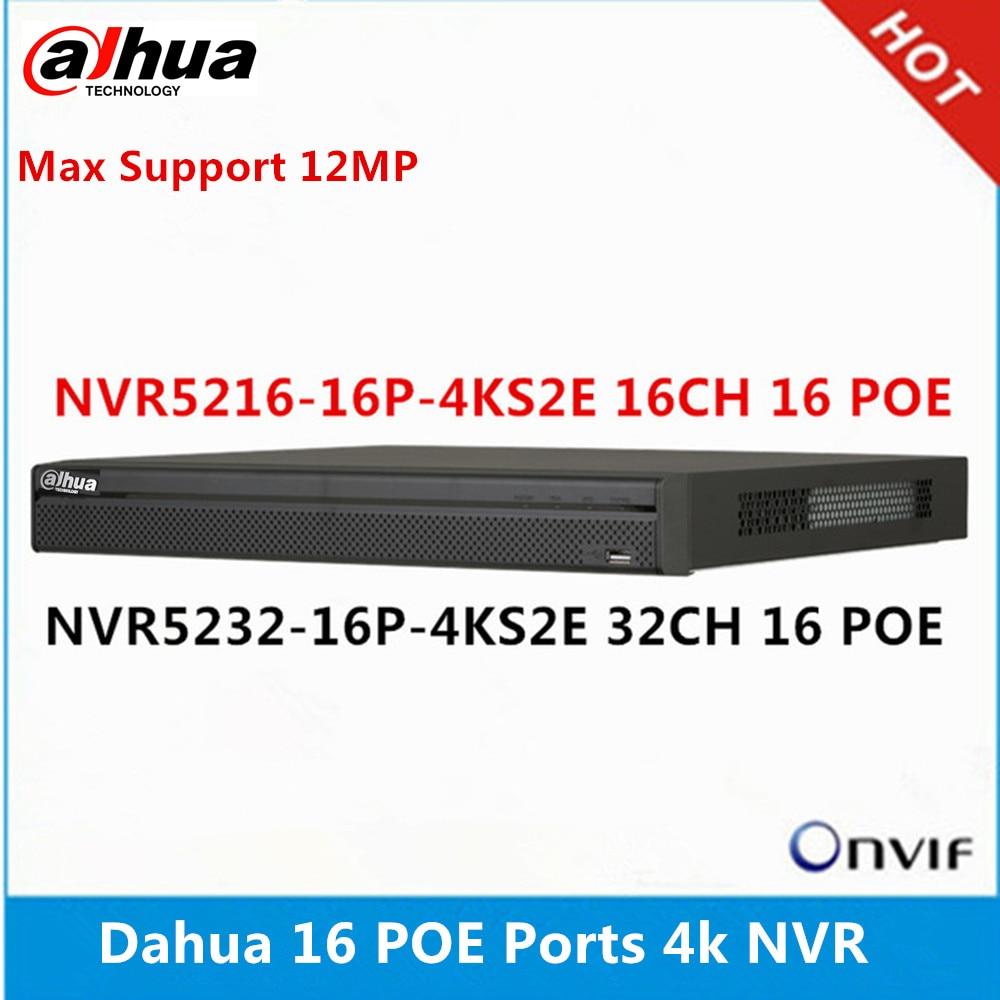 Dahua NVR5216 16P 4KS2E 16CH 16 poe & NVR5232 16p 4KS2E 32ch 16 พอร์ต PoE max สนับสนุน 12MP ความละเอียด 4K NVR reader-ใน เครื่องบันทึกวิดีโอกล้องวงจรปิด จาก การรักษาความปลอดภัยและการป้องกัน บน AliExpress - 11.11_สิบเอ็ด สิบเอ็ดวันคนโสด 1