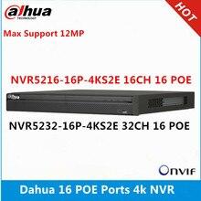 NVR5216 16P 4KS2E Dahua 16CH avec 16 poe et NVR5232 16p 4KS2E 32ch avec 16 ports PoE résolution max 12MP lecteur NVR 4K