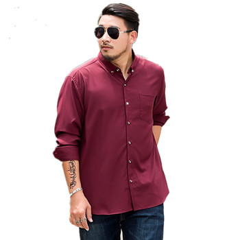 Plus size - Fashion Men's Shirt fat, Business spring Summer Men's Casual Shirt, Large Size Long Sleeve, Formal Dress Shirts Male Clothing 1