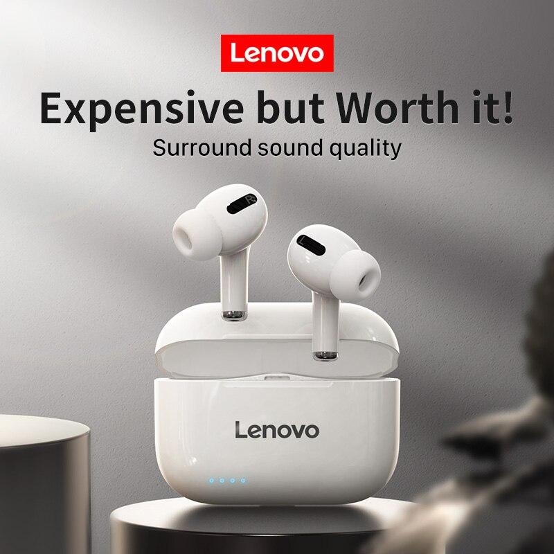 Lenovo lp1s nova listagem, lp1 nova versão atualizada, qualidade de som atualizado, verdadeiro fone de ouvido sem fio bluetooth para ios/android