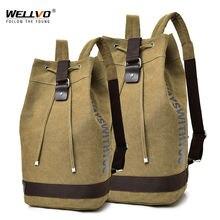 Большой дорожный зеленый рюкзак для альпинизма мужские холщовые