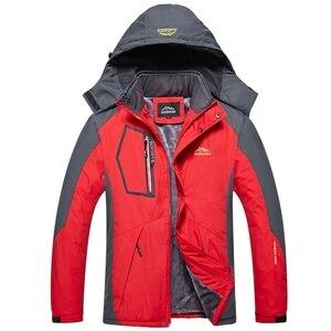 Image 3 - Detachable Hooded Coat Men Thick Warm Jackets Mens Winter Jacket Windproof Overcoat Male Outdoor Windbreaker Parkas Plus 5XL