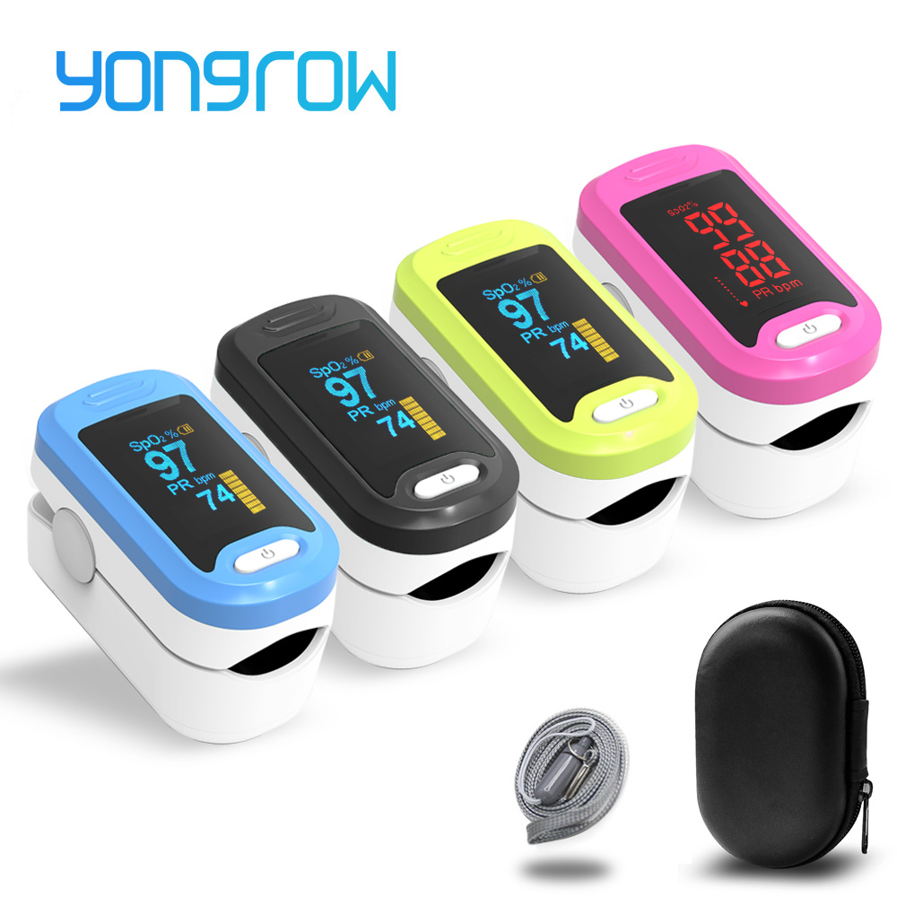Yongrow oxymètre De pouls médical du bout des doigts SPO2 PR Memter Saturation en oxygène SPO2 oxymètre oxymètre De Pulsioximetro SPO2
