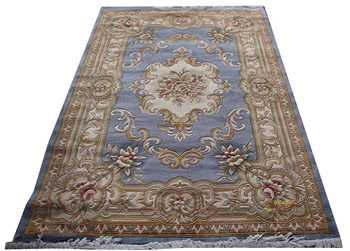 Alfombra de lana francés alfombra de máquina de felpa gruesa alfombra Savonnerie 137X198cm 4,5 X6 5 alfombra 3d alfombra