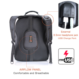 "Image 4 - Crossten 17"" Laptop Backpack Waterproof USB Charge Port Swiss style Multifunctional Rucksack Schoolbag Mochila Hiking Travel bag"