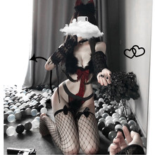 Uniforme Lolita chat fille Sexy, Lingerie érotique de demoiselle Cosplay lapin Anime body tentation Costumes, nouvelle collection