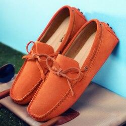 Luksusowa marka męskie buty oryginalne skórzane mokasyny Slip on mężczyźni buty do jazdy samochodem mokasyny miękkie męskie oddychające mieszkania