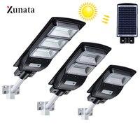 태양 led 벽 램프 20 w/40 w/60 w 방수 태양 거리 빛 레이더 모션 정원 마당 램프 야외 거리 주차 홍수 램프
