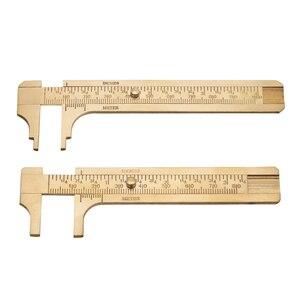 1 шт. латунный скользящий калибр, штангенциркуль, линейка, измерительные двойные весы, мм/дюйм, измерительная линейка, измерительный инструм...