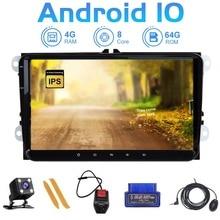ZLTOOPAI Reproductor multimedia de DVD para coche, dispositivo con Android 10, para VW, Volkswagen Golf, Polo, Tiguan, Passat B7 y B6, SEAT Leon y Skoda Octavia + regalo