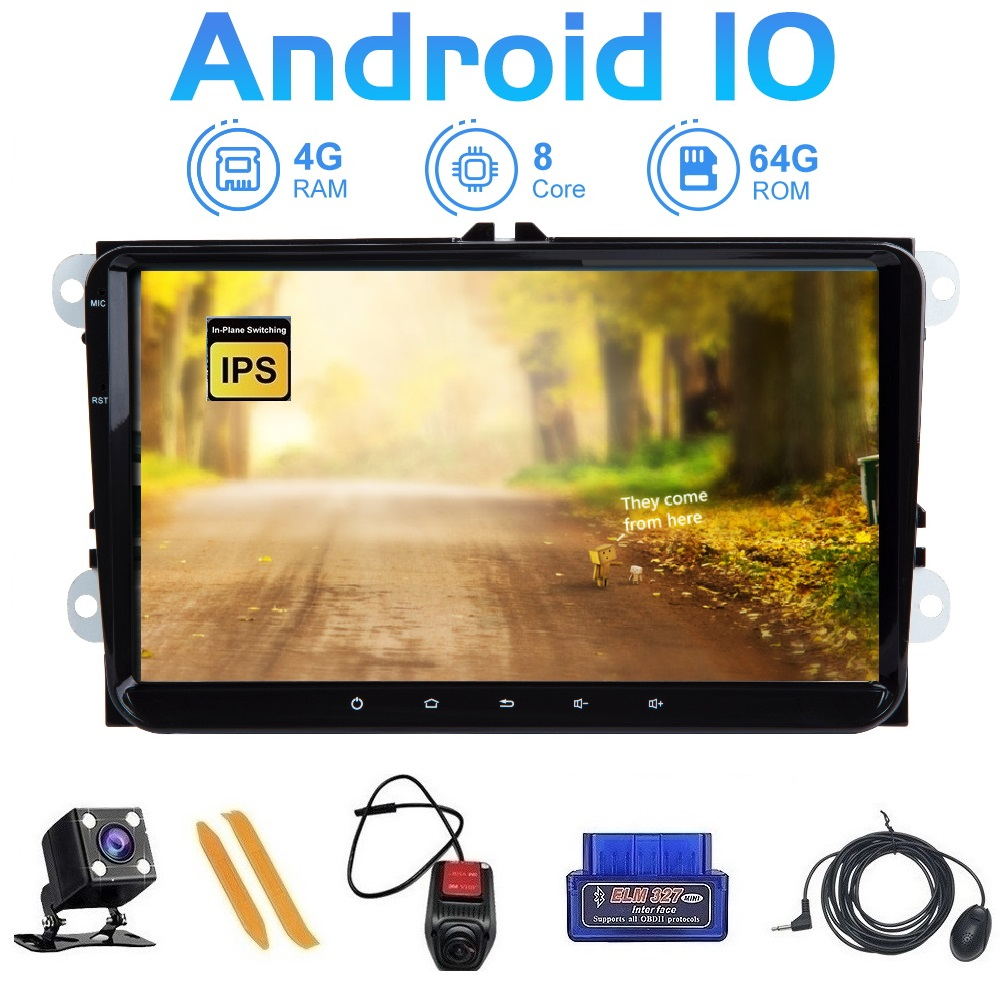 ZLTOOPAI Car Multimedia Player Android 10 Car DVD For VW/Volkswagen/Golf/Polo/Tiguan/Passat/B7/B6/SEAT/leon/Skoda/Octavia + Gift image