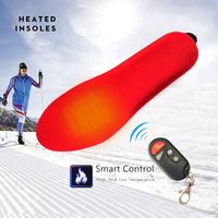 1800mAh Rechargeable Electric Heating Insoles With Remote Control Winter Warm Heated Insoles Sport Shoes Pads For Skiing Hunting