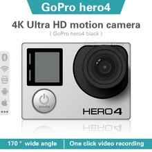 Gopro hero 4 preto 4k30 quadros ultra hd câmera de ação à prova d12 água 12 megapixel à prova dwaterproof água esportes ao ar livre câmera