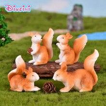 Simulation Squirrels action figure plastic artificial cartoon Animal Model garden decoration figurine one piece Gift for Kids