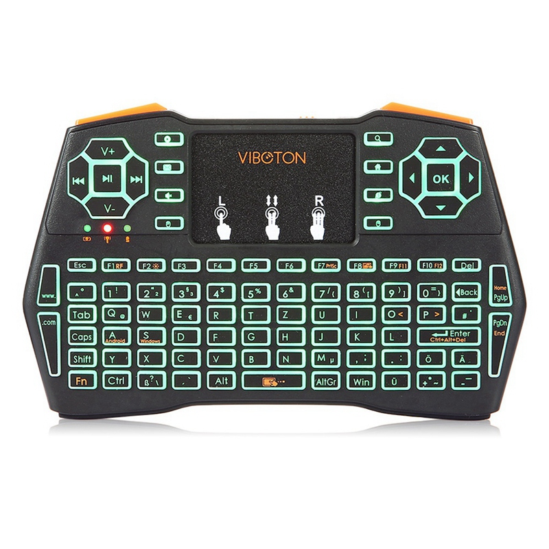 Viboton I8 Plus Three Colors Backlit German Keyboard Mini Wireless Keyboard Air Mouse For Android Tv Box Mini Pc Laptop