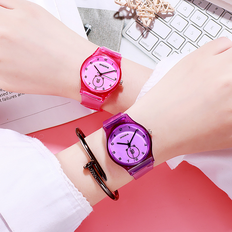 Fashion Simple Digital Transparent Belt Women Watch For Kids Students Clock Children Watches For Child Girl Baby Christmas Gift