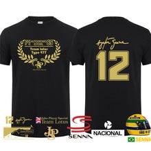 New Hero Ayrton Senna T Shirt Men Short Sleeve Cotton T-shirts Funny Cool Man Tshirt