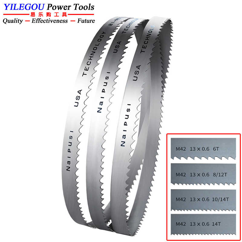"Bi-metal Band Saw Blades Metal Cut Cutter 44-7//8/"" x 1//2/"" x 0.025/"" x 14TPI M42"