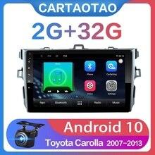 """2G + 32G 9 """"2DIN Android 10 DVD Xe Hơi Cho Xe Toyota Corolla E140/150 2006  2013 Radio Đồng Hồ Định Vị GPS Wifi"""