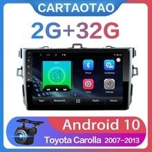 "2G + 32G 9 ""2din أندرويد 10 سيارة مشغل ديفيدي لتويوتا كورولا E140/150 2006 2013 راديو السيارة لتحديد المواقع والملاحة واي فاي لاعب"