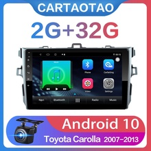 """2G + 32G 9"""" 2din Android 10 Car DVD Player for Toyota Corolla E140/150 2006 2013 Car Radio GPS Navigation WIFI Player"""