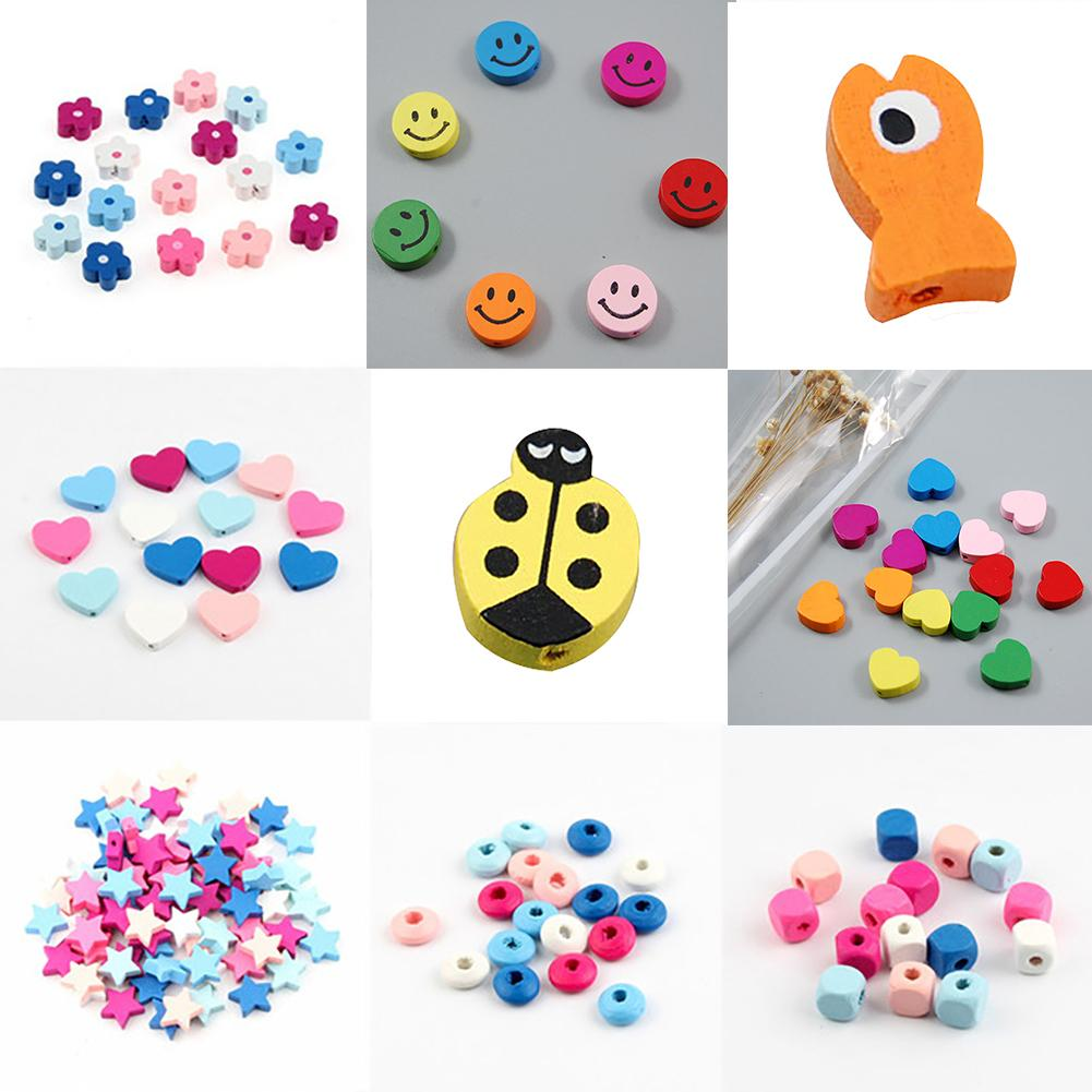 25g Randomly mixed wooden Craft Sewing buttons 11mm 30mm