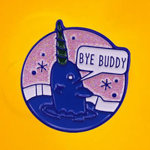 Brooch Jewelry Geek Jacket Movie Hope-You Will Enamel-Pin Elf Buddy Narwhal Christmas