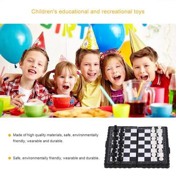 1 Set Mini Magnetic Plastic Folding Chess Board Chess Board Game Portable Toy For Children Folded Magnetic Chess high quality chess magnetic mini portable plastic chess set board games for friends children s