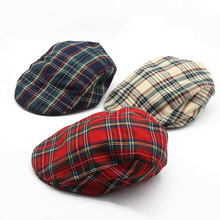 Для мужчин и женщин в красную клетку шляпа взрослые модные Открытая