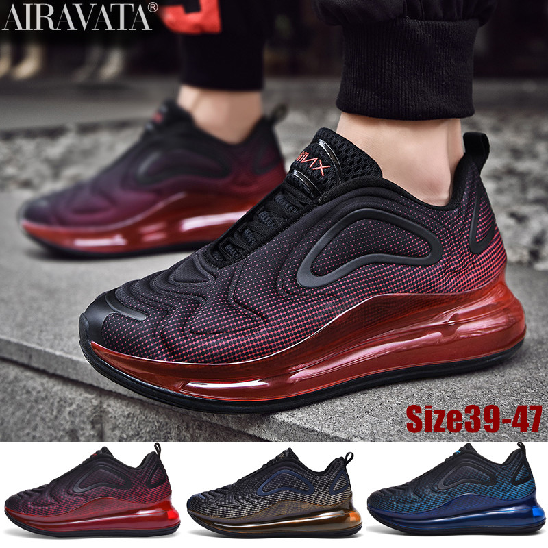 Mens Mixed Color Sports Leisure Shoes Increased Cushion Breathable Training Shoes Sneakers 3 Color