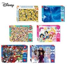 Rompecabezas de dibujos animados de Disney para adultos y niños, rompecabezas de madera de 2 'Marvel', 1000 piezas, juguetes educativos