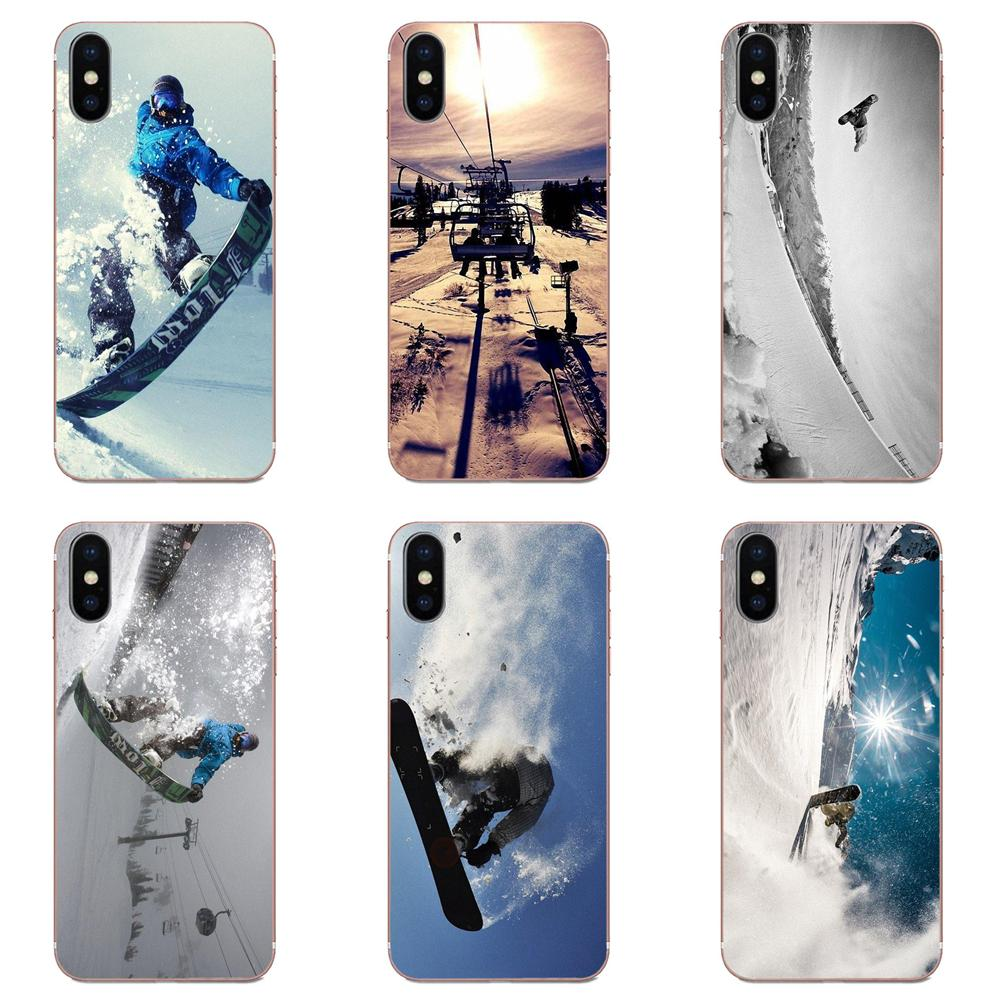 Soft Cases Covers For Galaxy Grand A3 A5 A7 A8 A9 A9S On5 On7 Plus Pro Star 2015 2016 2017 2018 Snow Or Die Ski Snowboard Sport