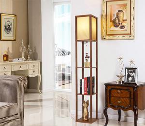 Image 2 - Ganeed Lámpara de pie con plataforma LED luz alta de madera para Interior, iluminación de pie moderna para dormitorio, sala de estar, estudio, hogar