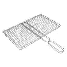 Outdoor-Tool-Accessories Grilling Bbq-Fish-Rack Metal-Handle Triple-Fish-Grilling-Basket