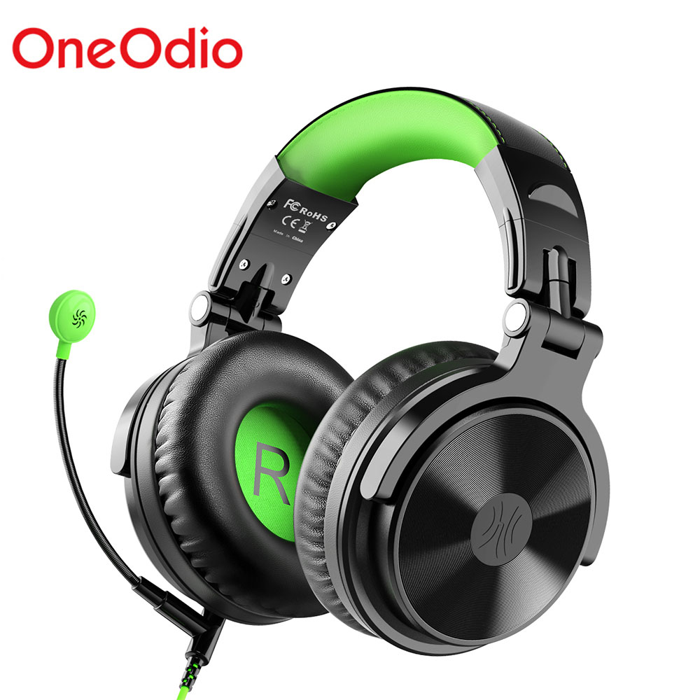 Oneodio Gaming Headset Wired Headphones With Noise Cancelling Mic For Foldable Portable Studio DJ Headphone For Xbox etc image