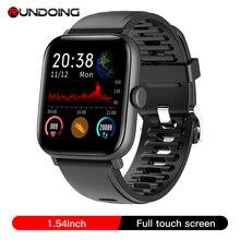 RUNDOING NY16 Relógio de tela de toque completo com caixa de liga de alumínio IP68 smartwatch à prova d água para Android e IOS
