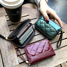 Women Wallets Card-Holder Purse Coin-Bag Multiple-Card Zipper Genuine-Leather New Fashion