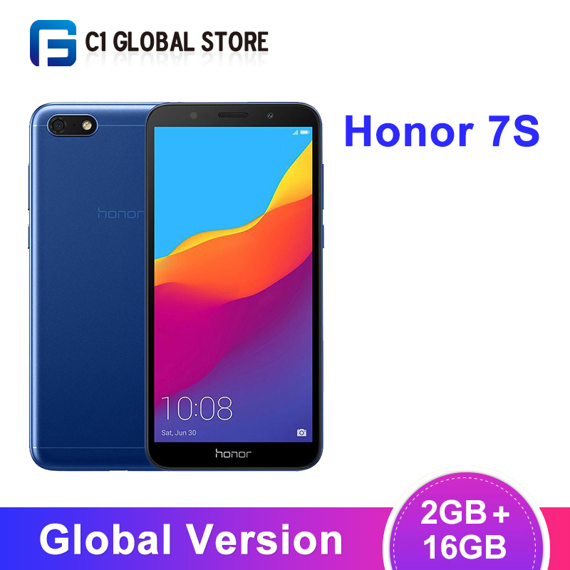 Original Global Version Honor 7S 2GB 16GB Smartphone MT6739 Quad Core 13MP Rear Camera 3020mAh Battery 5.45