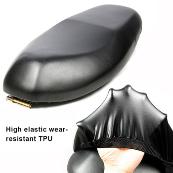 Elastic Motorcycle Seat Cover Universal Motorcycle Flexible Seat Protector DIY with Storage Bag TD326