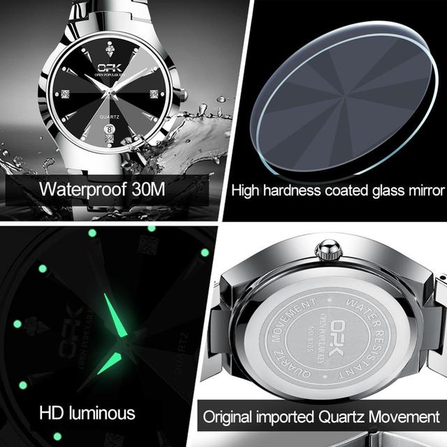 OPK Casual Sport Watches for Men Top Brand Luxury watch men Simple and stylish waterproof Men's Watch Business calendar Watch Accessories Jewellery & Watches