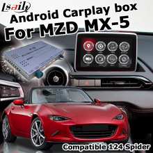 Video-Interface-Box Gps Navigation Yandex 124 Spider Lsailt Waze for New Mazda Mx-5/fiat