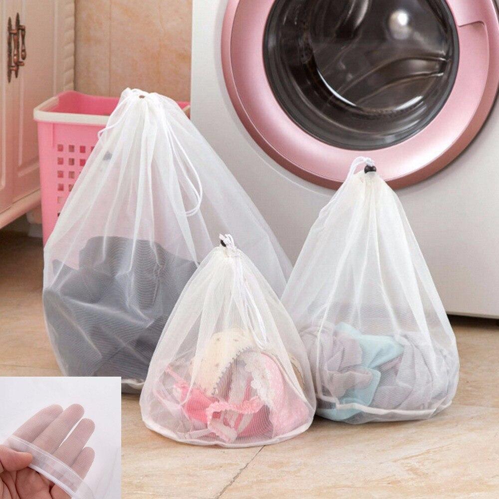 Washing Laundry Bag Clothing Care Foldable Protection Net Filter Underwear Bra Socks Underwear Washing Machine Clothes 3 Size
